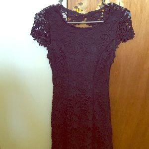 Lulus open back, lace dress